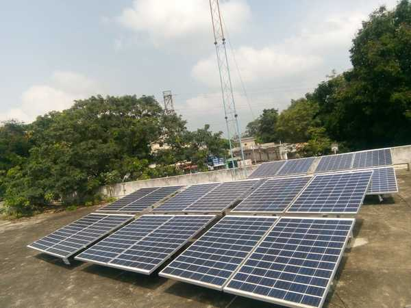10Kwp solar power system at ZP