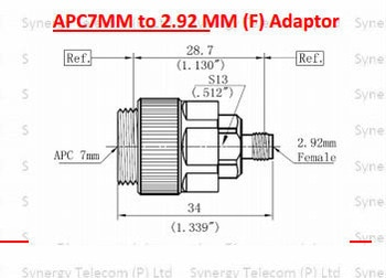 APC7mm TO 2.92mm (F) ADAPTOR H