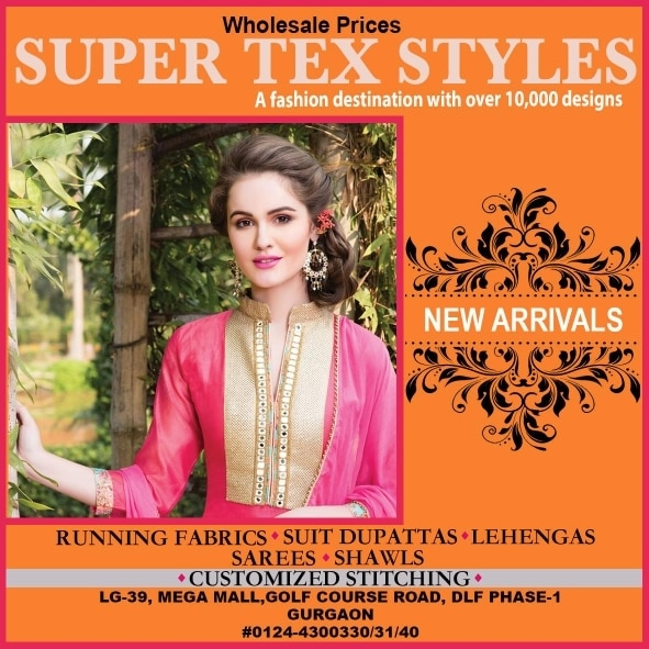 Super Tex Styles shop no.LG floor 33 to 39 at Mega  Mall Golf Course Road Gurgaon...#bestladieswear #bestmallingurgaon