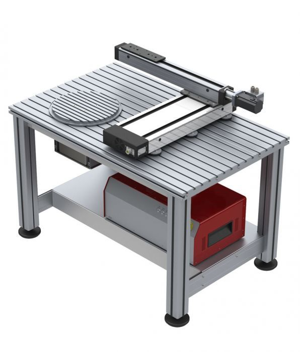 Cybernetic offers solutions for quick automation. Shown here is a XY table with rotary axis. Used in variety of application, our XYZ tables and Rotary axis are indispensable for automation solutions.