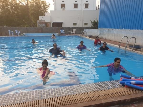 Aqua yoga therapy classes at a