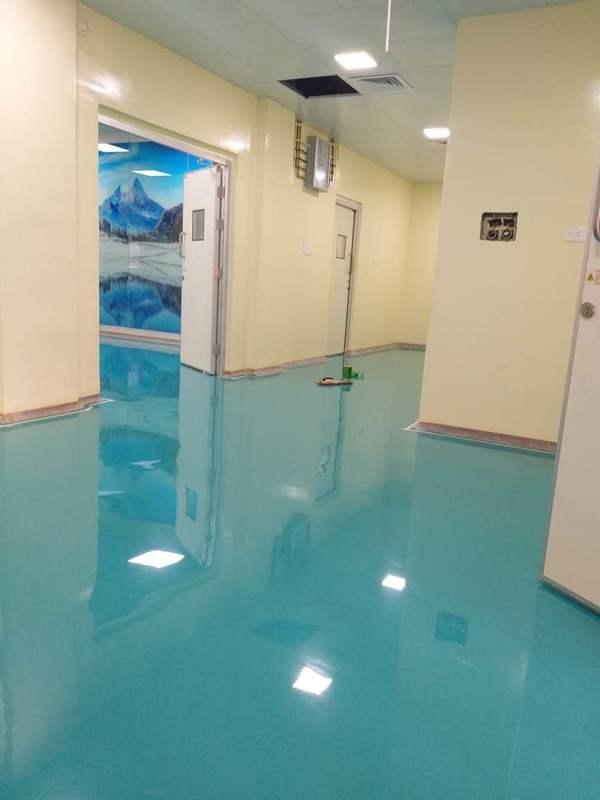 Pharma epoxy hygienic flooring