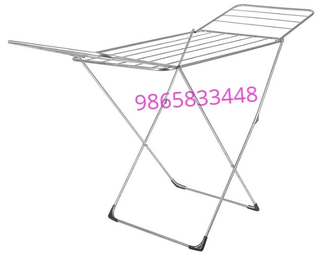 Shrijith Home Appliances Manufacturing Cloth Drying Hangers in Best Quality. Butterfly Stand It is Easy To Fold And Portable Too. It Is Fully Manufactured by Stainless Steel. It is Rust Proof.
