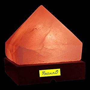 Rock Salt Pyramid Lamp  R