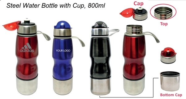 Corporate Gifts Suppliers in Delhi Steel Water Bottle with Cup -Promotional steel water bottle, Useful at Running, Outdoor, Travel, Fitness, Yoga & Office, Material Stainless Steel, Attractive Design, Attractive Three color available.Sipper Bottle Manufacturer Delhi | Sipper Bottle Manufacturers india | Sipper bottles manufacturers mumbai | steel water bottle suppliers delhi | steel sipper bottle manufacturers | stainless steel sipper water bottle | sports water bottle supplier delhi | Gym water bottle manufacturers | sipper water bottle manufacturers in india | sports sipper bottle manufacturers delhi | sipper bottle for gym | sipper water bottle sports supplier