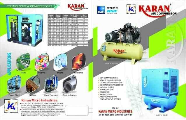 Brochure of Air compressor and screw compressor