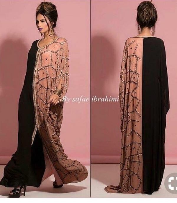 Women embellished  beaded abay