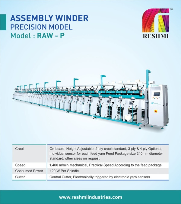 Assembly Winder for 2 ply and 3 ply yarnParallel Assembly Winding Machine Thread Cheese Winding MachineAssembly Winding Machine