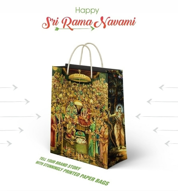 Whish a Happy Sree Rama Navami to All.We make paper bags, paper carrier bags, brown bags, stationery, visiting card, product packing boxes, etc. And we sell bags online. #shoppingbags #shoppingPaperBags #PrintedShoppingBags #EcoFriendly #Brownbag #BrownPaperBags #returngift #giftpackaging #handmadepaperbags #bestPrinting #Paperbags #BestPaperBagsInHyderabad #ssavesolutions #productpacking #printsnpacks #handmadepaperbags #paperbagmanufacturersinhyderabad #BestPaperbags #Paperbags  #bagsnbags #bagsandbags #photoframes #Diary #sriramanavami2019 #sriramanavami #srirama #happysriramanavami #printsnpacks