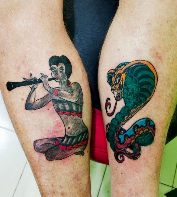 #Snake charmer tattoo #best ta