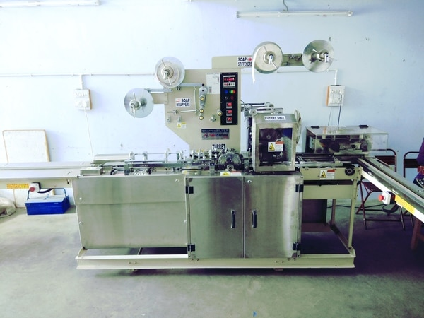 BATH SOAP WRAPPING MACHINE in