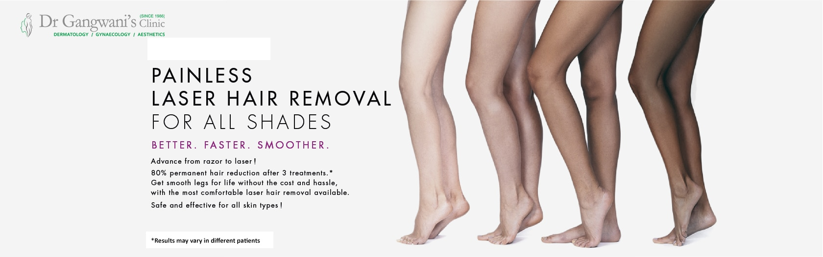 Laser Hair Removal  Safe, comf