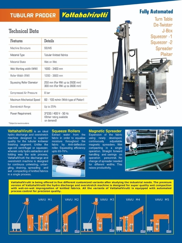 Textile Machine - Tubular Padd