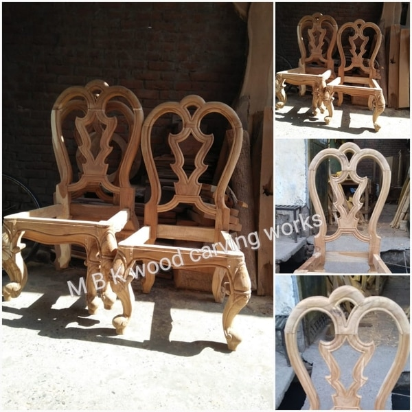 We are the best manufacturer of suppliers wooden carving dining chair best hand work chair best teak wood in the city manufacturer by well experienced carpenters as per the customers requirements for future details contact 9395541344