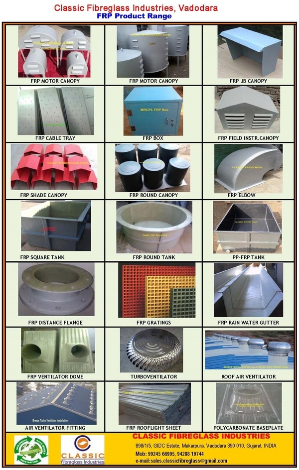 FRP  Canopies & Boxes,  FRP