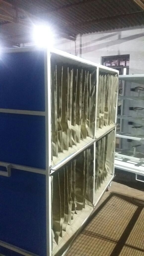 PP cage for trolleys