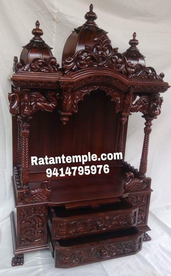 Wooden pooja mandir is made up