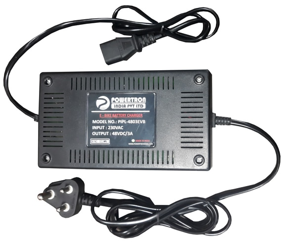 E Bike Battery charger for E bikes, E Scooters & amp; E Cycles.<br>Key Features :-<br>1) Fast Charging<br>2) Light Weight & amp; Compact<br>3) Easy to handle & amp; Operate<br>4) Less power consumption<br><br>Manufacturer by : - POWERTRON INDIA PVT LTD <br><br>For more detail please visit us at :- http://www.powertron.in http://www.powertronindia.com http://www.powertronsmps.co.in <br><br>MOB :- +91-80977 07496 | +91-72085 60460 <br><br>PRODUCT RANGE : SMPS | DC DC CONVERTER | BATTERY CHARGER | DC POWER SUPPLY | DC AC CONVERTER | PLATING RECTIFIER | STABILIZER | ADAPTER etc.