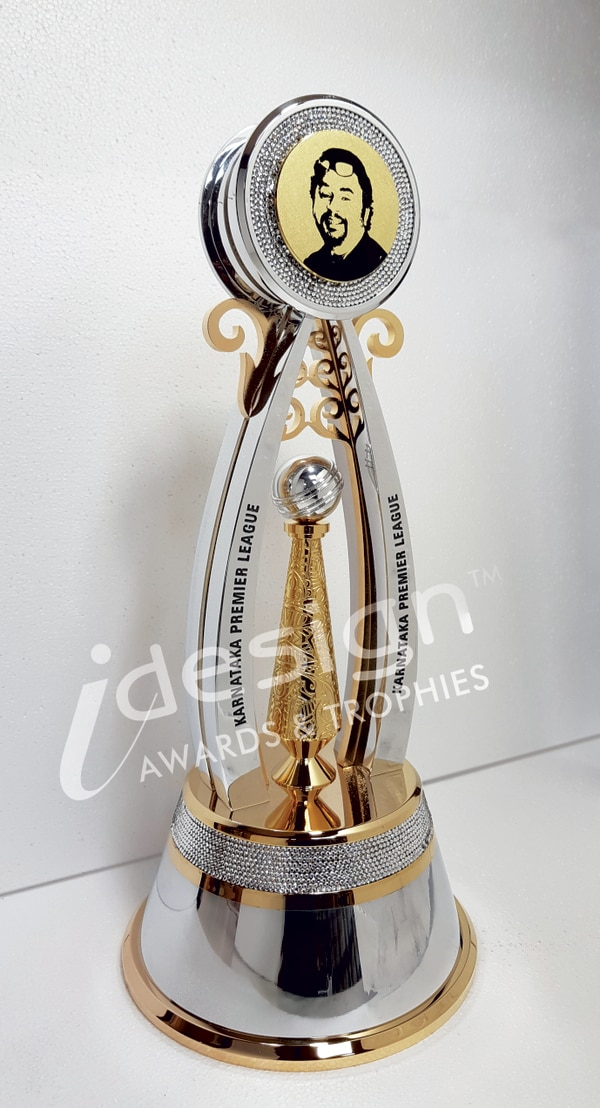 KPL WINNERS TROPHYGold Plated with Swarovski Stones