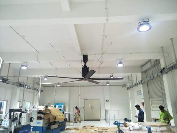 Latest successfully installation of Austar make 'HVLS FANS' (High-Volume Low-Speed Fan) at Factory workshops, And the same time AUSTAR  Installing Various range of High-Volume Low-Speed (HVLS) Fans In the Domestic & International market & Also AUSTAR having a huge client Base in Domestic market & same in International Market, AUSTAR make HVLS Fans having big plus point is every week getting a references business, Now We are Happy to tell you from last 5months AUSTAR getting inquiries by his Own Brand name (AUSTAR HVLS - Fans) from the Corporate sectors & Private sectors, Hope we will give best services & quality to Our huge clients base & Who will connect with AUSTAR INDIA in the future, AUSTAR HVLS - Fans Installed places like Warehouses, Distribution Centres, Hangars, Barns, and Commercial Places like Hospitals, Shopping Malls, Office Buildings, Schools, Airport Terminal Buildings etc..