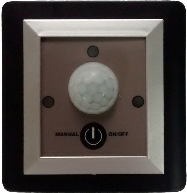 Switches with Motion Sensor PS-MD-002-XXThis model is an electrical switch that would switch ON an electrical circuit up to 5 Ampere capacities by sensing the movement. It switches OFF the load automatically after a specified time, selectable between 20 to 2000 sec.
