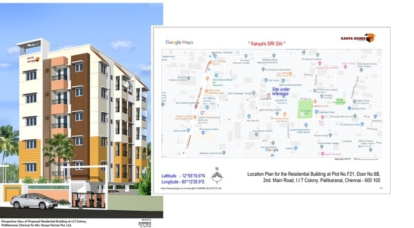 2 and 3 BHK Flats for sale in IIT Colony PallikaranaiStilt + 5 floors 2 and 3 BHK Flats for sale Property located at IIT Colony, Pallikaranai, Chennai close to the bustling city center of Velachery. A neighborhood that's emerging as the hottest destination in Chennai This project has close proximity to the Medavakkam and Velachery Railway Station, and the IT Corridor, giving you the strategic advantage of being closer to places you happen to frequent in day. From the best of hospitals to multiplexes and schools, you will find it all close by. Call back us for more details.