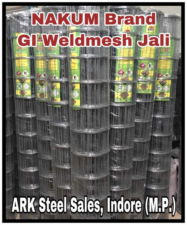 MANUFACTURER OF GI WELDMESH JALI.ALL TYPES IF FENCES AVAILABLE ARK STEEL SALESINDORE