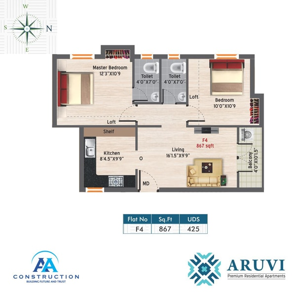 2BHK Flats @ Medavakkam | 500 Mts From Mambakkam M