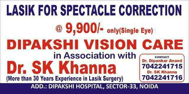 LASIK SURGERY @9, 900/- ONLY