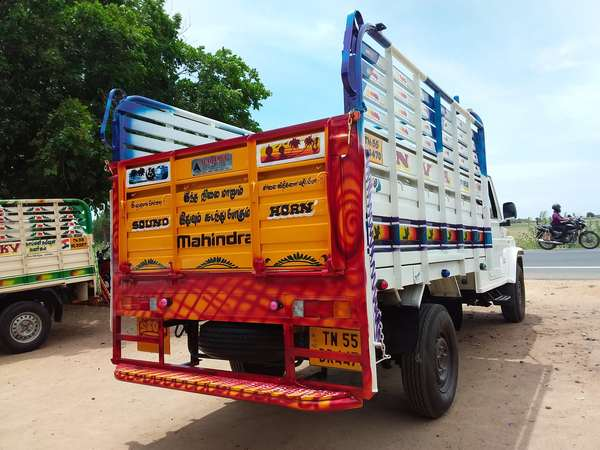 Bolero pick-up open Body Steel Body work Alagambal Coach Builders Trichy