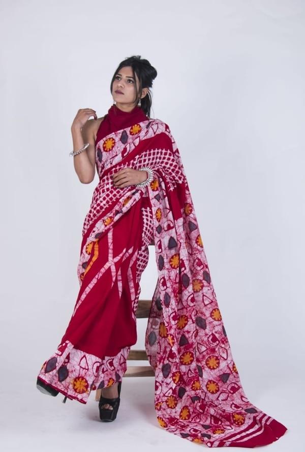 Cotton Saree With Blouse in Ja