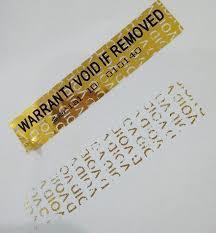 VOID Labels, VOID Material, V