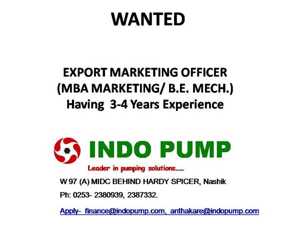 Vacancy for Export Marketing Officer ... !!!