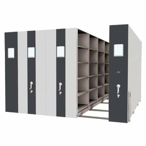 GODREJ Compactors are storage spaces with collapsable aisles and lockable shelves. suitable for  • Files and Documents • Spare Parts • Samples Storage • Tools storage • Pharmaceutical Storageetc.