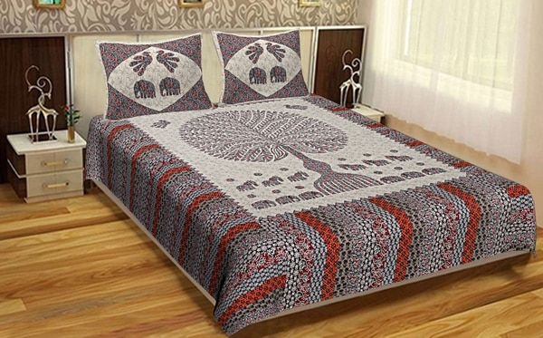 Cotton Bedsheet With Pillow Co