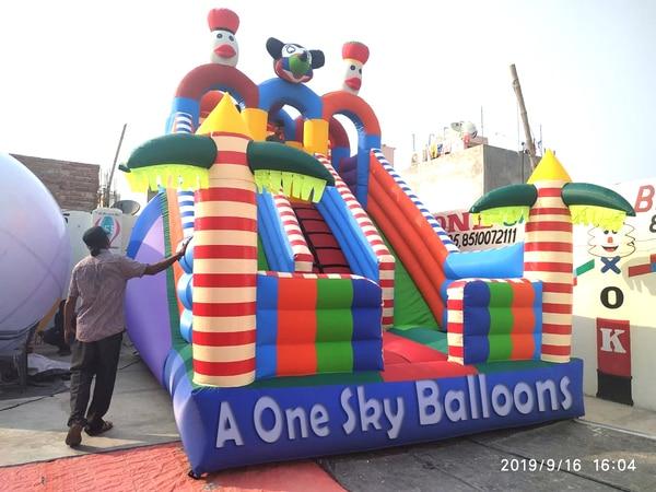 3 Lane Bouncy Castle Mickey M